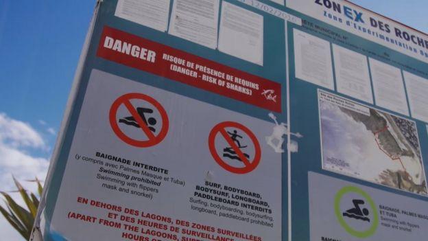 Avisos contra tubarões