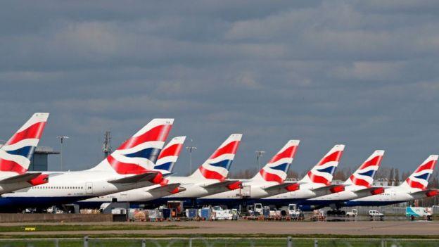 Самолеты в Хитроу 16 марта