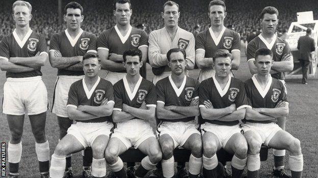 Wales v Yr Alban 1958