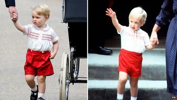 Prince George and Prince William in 1984