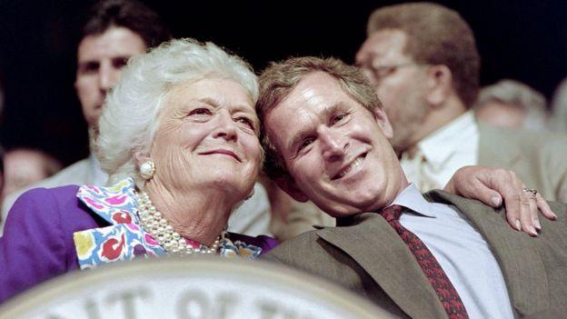 Barbara ve George W Bush