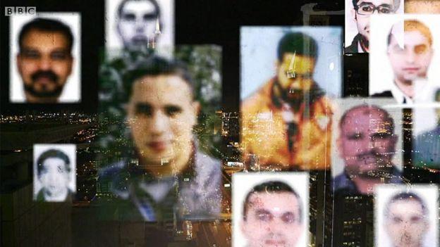 Imagen con caras de algunos de los condenados