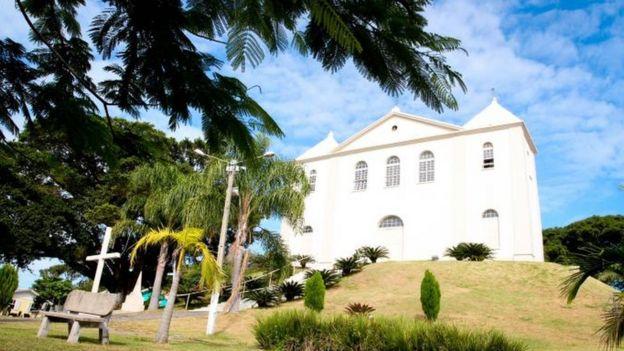 Igreja localizada na cidade de Pescaria Brava
