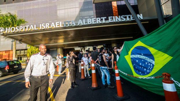 Fachada del Hospital Israelita Albert Einstein en Sao Paulo.