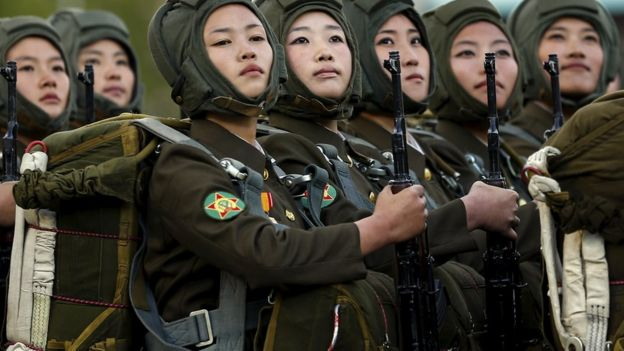 Rape and no periods in North Korea's army - BBC News