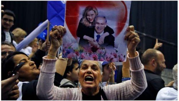 أنصار حزب الليكود يحتفلون
