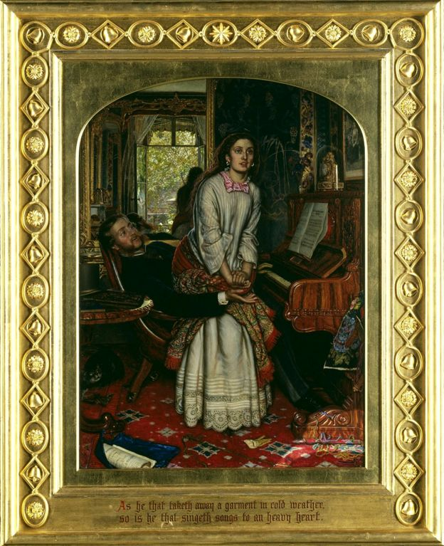 The Awakening Conscience, 1853, William Holman Hunt. Óleo en lienzo, 76,2 x 55,9 cm © Tate, London