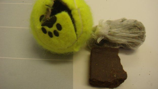 Tennis balls with drugs inside found in prisons