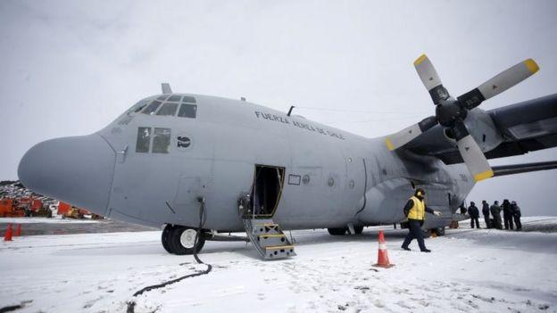 El avión C-130 de Chile en una foto de archivo