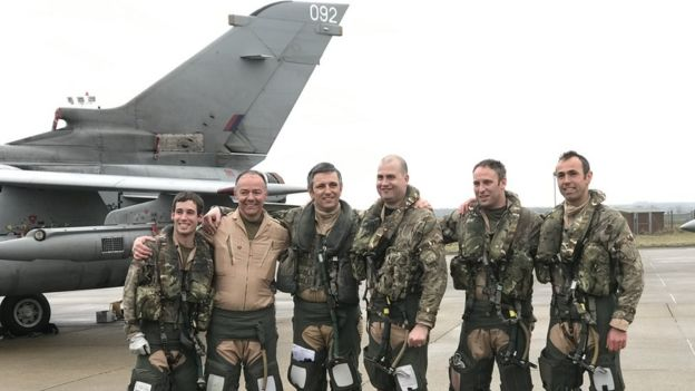 Final Tornado crew returning from Cyprus Feb 2019