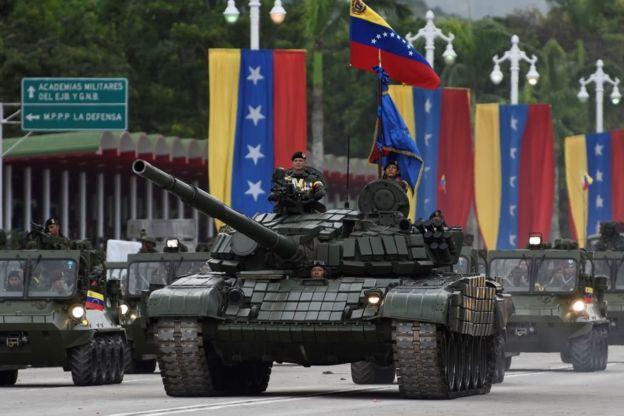 Un tanque del ejército de Venezuela