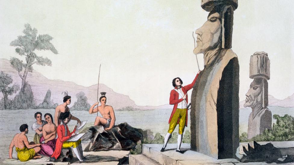 Визит капитана Кука на остров Пасхи
