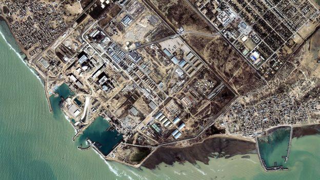 İran'ın Buşehr'deki nükleer tesislerinin 2002 yılında çekilmiş uydu görüntüsü