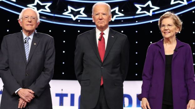 Bernie Sanders, Joe Biden, and Elizabeth Warren