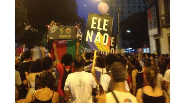 Manifestação contra Bolsonaro no Rio