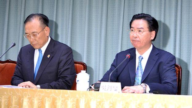 上任後連丟兩邦交國,台灣外交部長吳釗燮向蔡英文表示口頭請辭。
