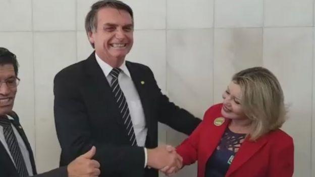 Bolsonaro e Selma Arruda