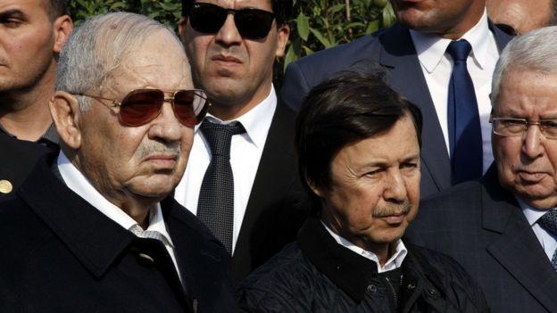 Genelkurmay Başkanı Ahmed Gaid Salad ve Cumhurbaşkanı'nın kardeşi Said Buteflika
