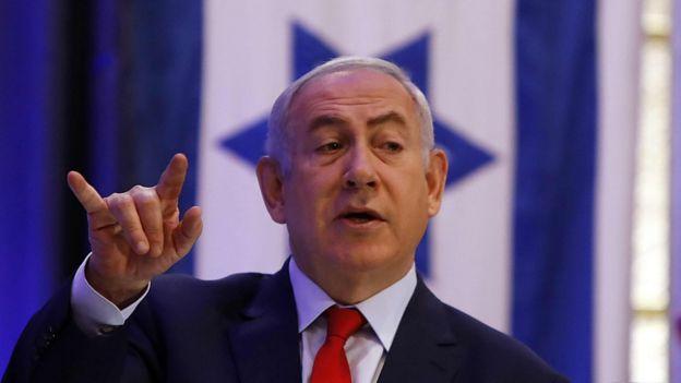 Benjamín Netanyahu hablando en el Ministerio de Exteriores de Israel, 7 de diciembre, 2017