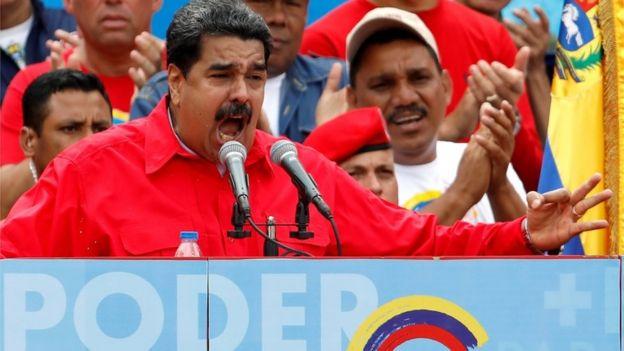 Maduro durante el cierre de campaña.