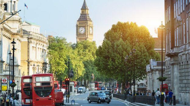 Londra'nın Trafalgar Meydanı