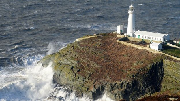 The lighthouse at South Stack