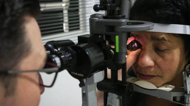 Exame de vista, em foto de arquivo
