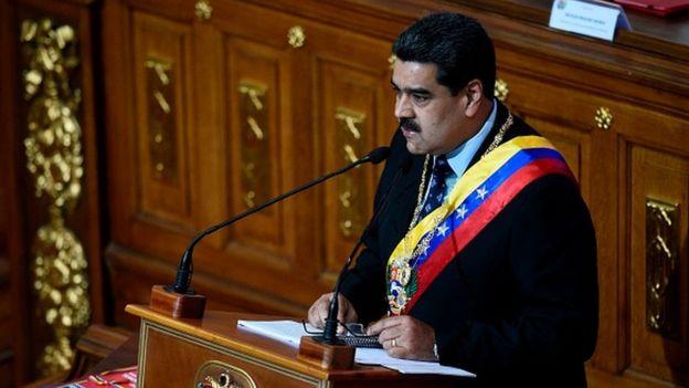 نیکلاس مادورو به رغم موج مخالفتهای داخلی و خارجی در حضور نمایندگان مجلس موسسان سوگند یاد کرد