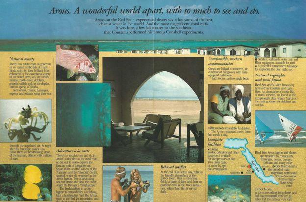 Folheto sobre o resort de Arous