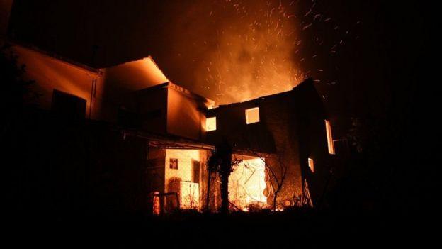 Сгоревший дом в поселке Педроган-Гранди