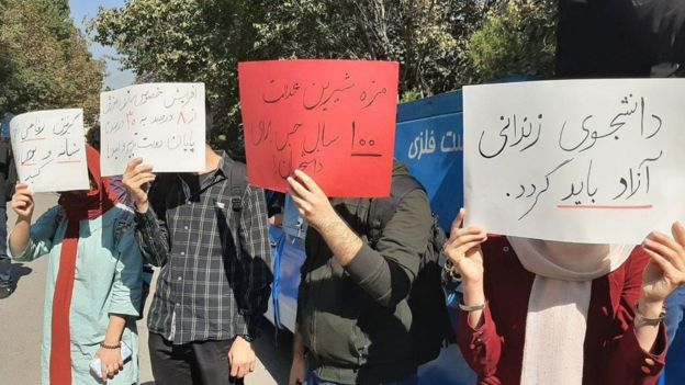 تجمع دانشجویان معترض به بازداشتها