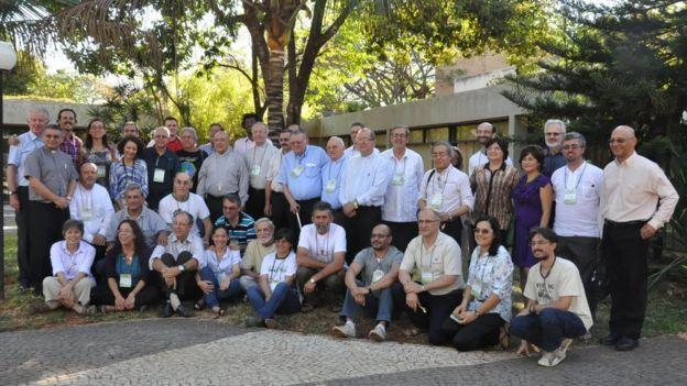 Reunião dos bispos da Repam, no Pará, em 2014