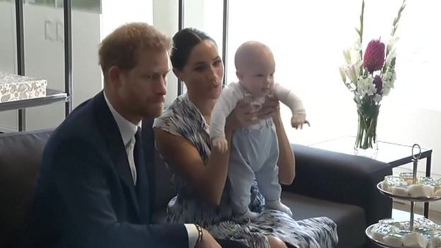 The Duke and Duchess of Sussex with baby son Archie