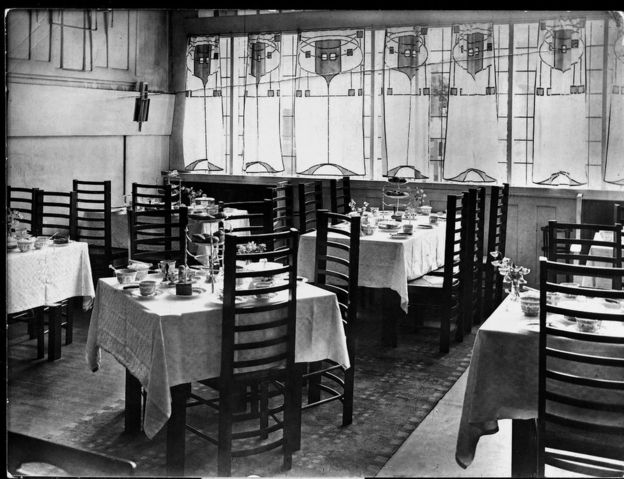 The Front Saloon Of The Willow Tea Rooms
