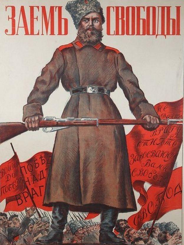Russian Revolution: Ten propaganda posters from 1917 - BBC News
