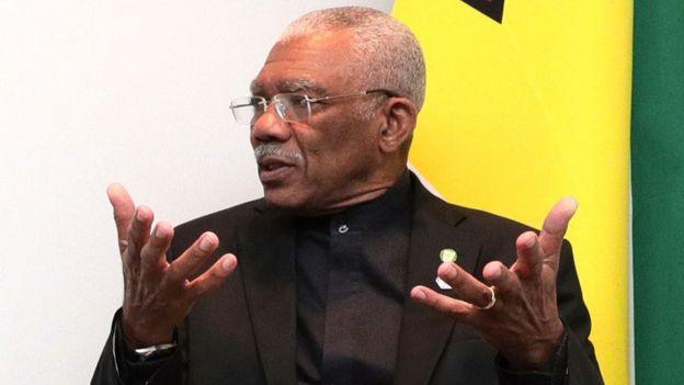 El presidente de Guyana, David Granger.