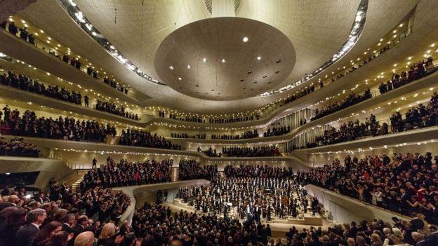 Sala de conciertos Elbphilharmonie en Hamburgo
