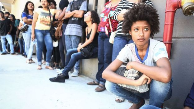 Desempleados en Brasil.