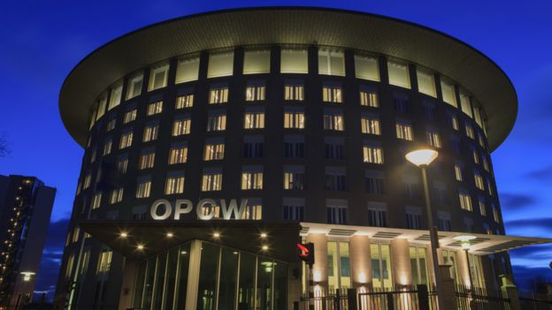 The OPCW headquarters in the Netherlands
