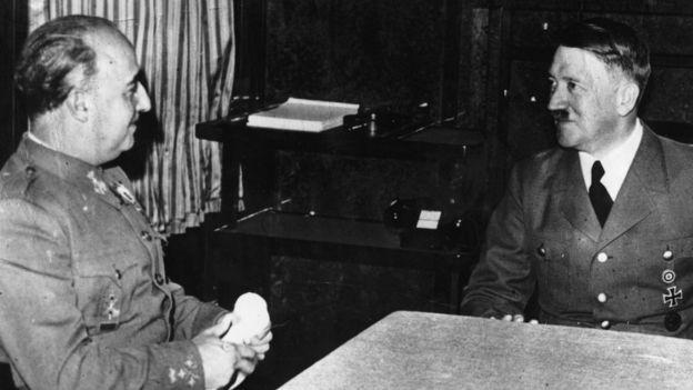 Francisco Franco y Adolph Hitler