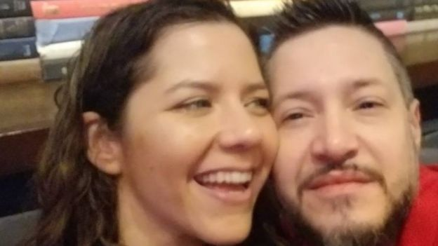 Silvia Galva with her boyfriend, Adam Reechard Crespo,