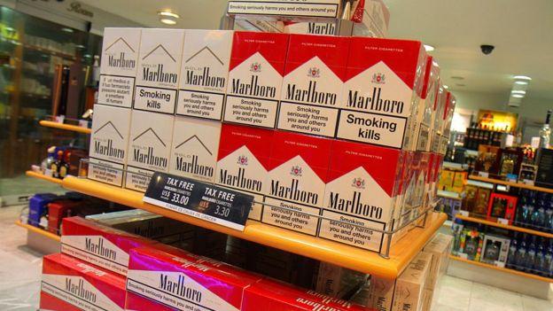 Venta de cigarrillos Marlboro en el