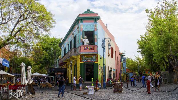 Vista de Caminito, en Buenos Aires