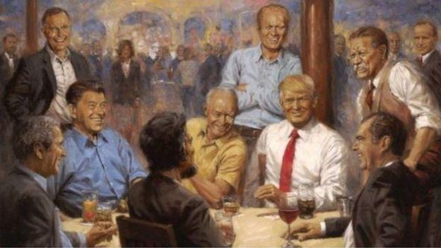 """Картина художника Энди Томаса """"Клуб республиканцев"""", к"""