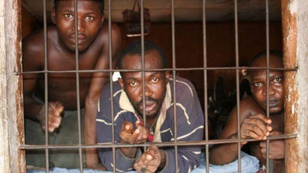 Enugu hapishanesinde tutulan mahkumlar