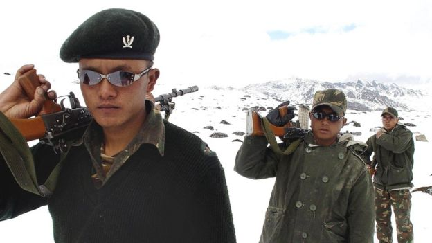 Soldiers of the Gorkha Regiment