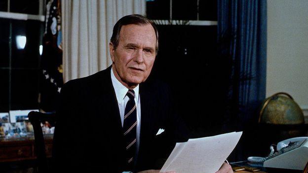 Tổng thống George H. W. Bush năm 1991