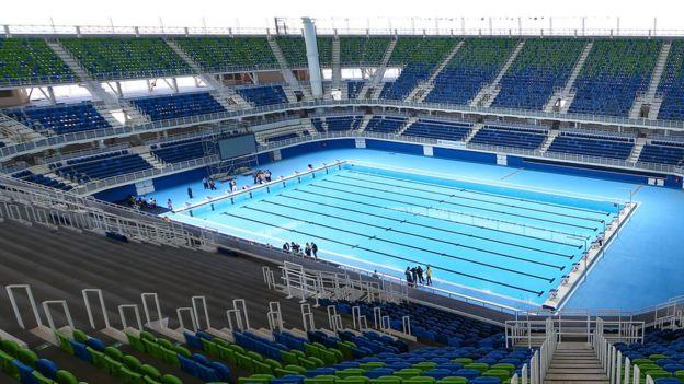 Олимпийский плавательный стадион был одним из главных объектов Олимпиады в Рио-де-Жанейро
