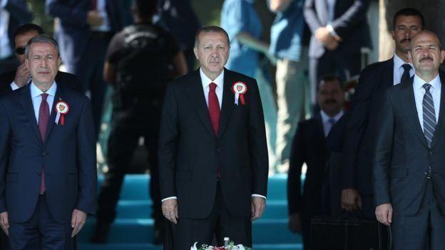 Hulusi Akar, RT Erdoğan, Süleyman Soylu