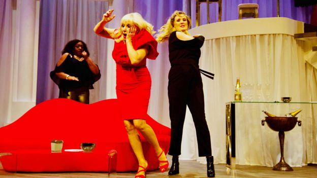 Sandra Marvin, Carol Harrison and Beverly Callard in The Thunder Girls